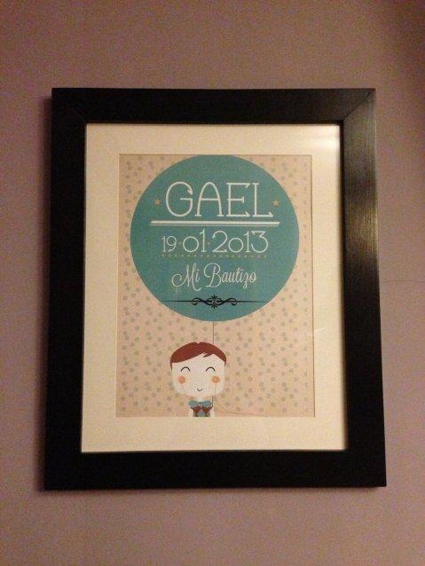 La niña sin nombre lámina bautizo Gael