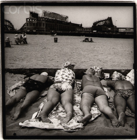 Four Senior Women on the Beach at Coney Island