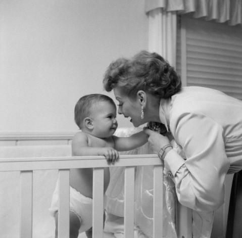 Lucille Ball Playing with Son Desi